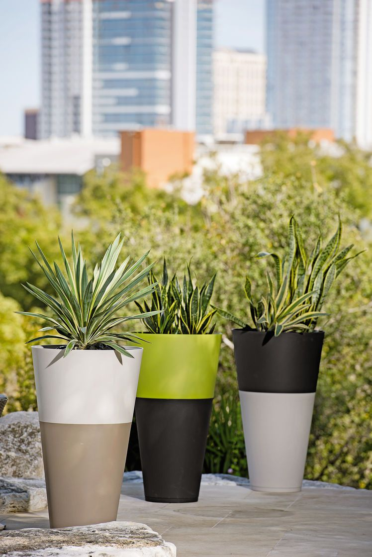Large Resin Planters Colorful Flower Pots Resin Flower Pots