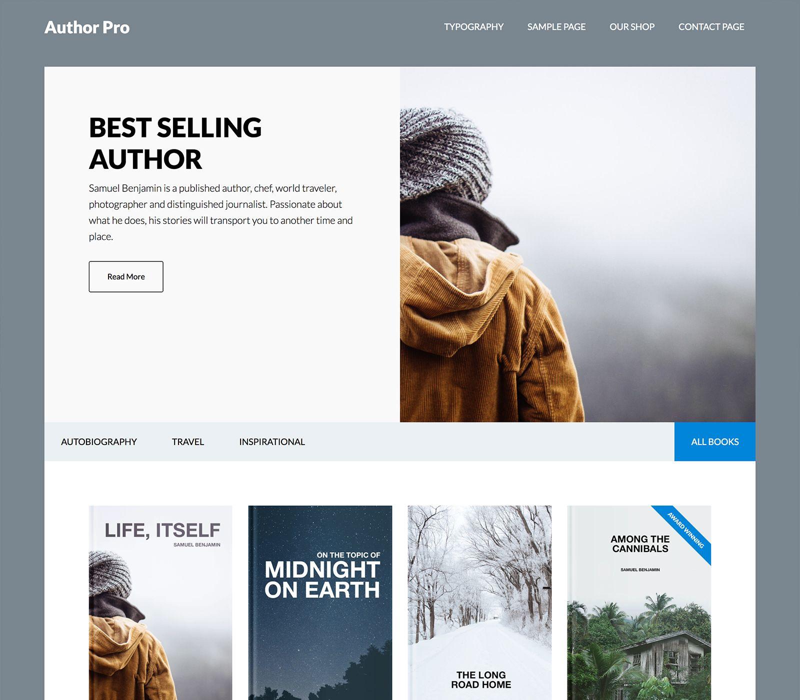 Plantilla Wordpress Author PRO | Plantillas Wordpress | Pinterest ...
