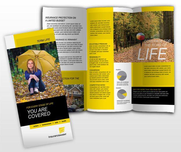 Licensedinsuranceagenttrifoldbrochuretemplate DESIGN - Insurance brochure template