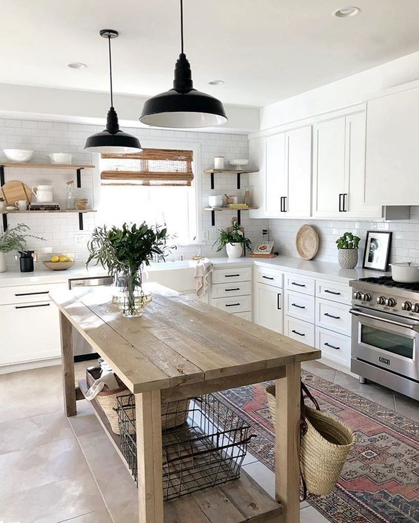 65 Beautiful Modern Farmhouse Kitchen Design Ideas for