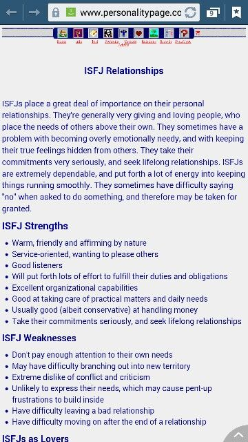 intj and isfj in a relationship
