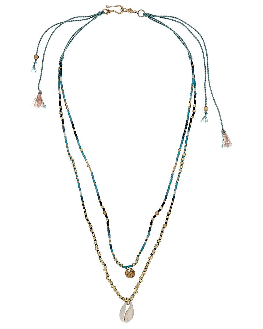 Chan Luu 24K & 18K over Silver Beaded Double Strand Necklace is on Rue. Shop it now.