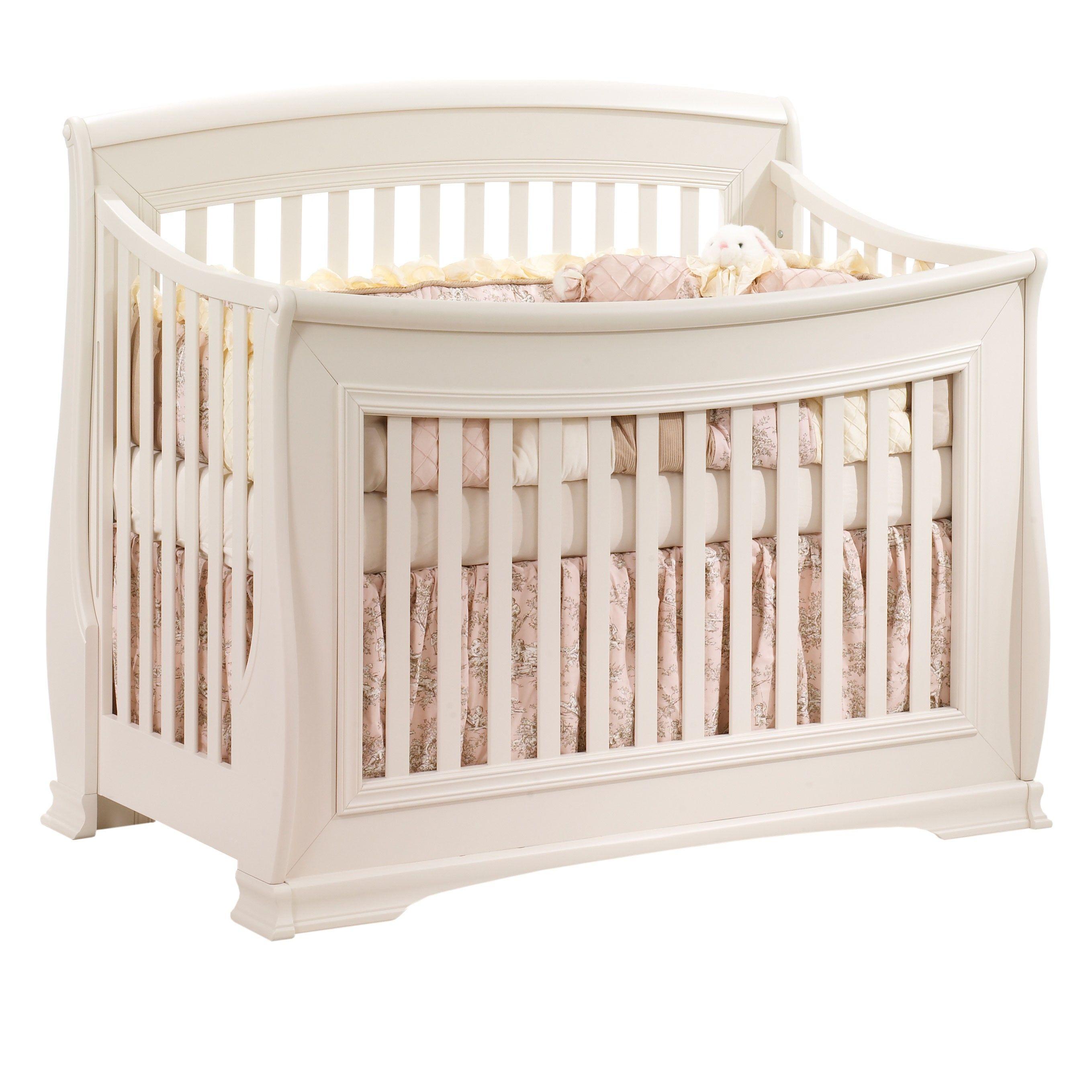 Natart Bella Collection Convertible Crib in Linen Cribs