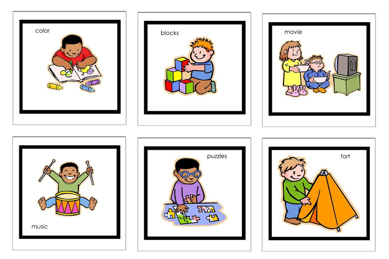 Picture Cards For Nonverbal Children
