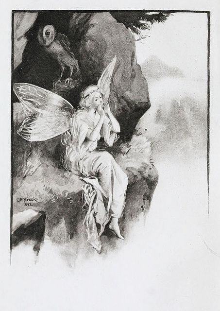 C E Brock Fairy Fairy Magic Vintage Fairies Fantasy