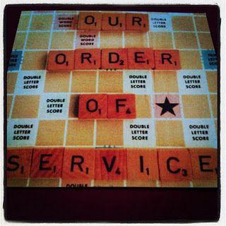 Scrabble theme order of service