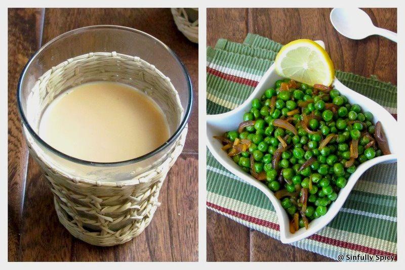 Indian Spiced Peas(Chuki Matar)& Masala Chai | Sinfully Spicy