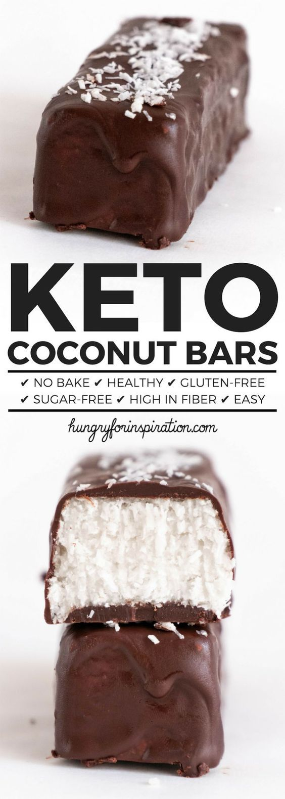 Healthy No Bake Keto Coconut Bars (Homemade Mounds Bars/ Bounty Bars) -   20 healthy recipes Desserts sweet treats