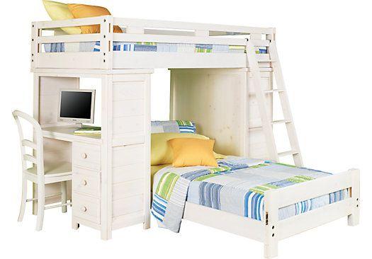 creekside white wash twin twin student loft bed w desk chest kid rh pinterest com