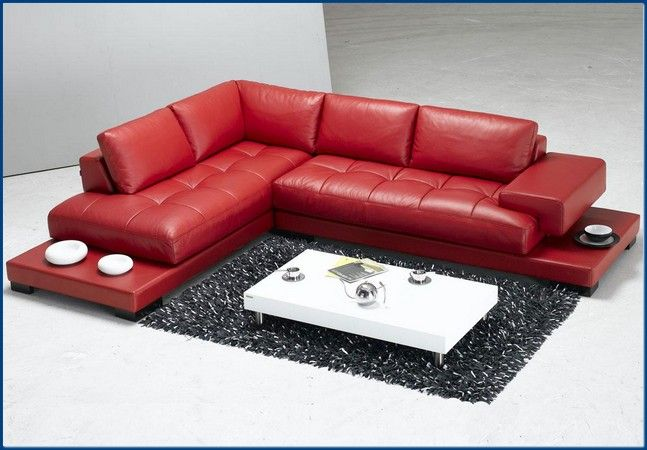 Pin by Syred Net on Modern Sofa | Red sectional sofa, Red leather ...