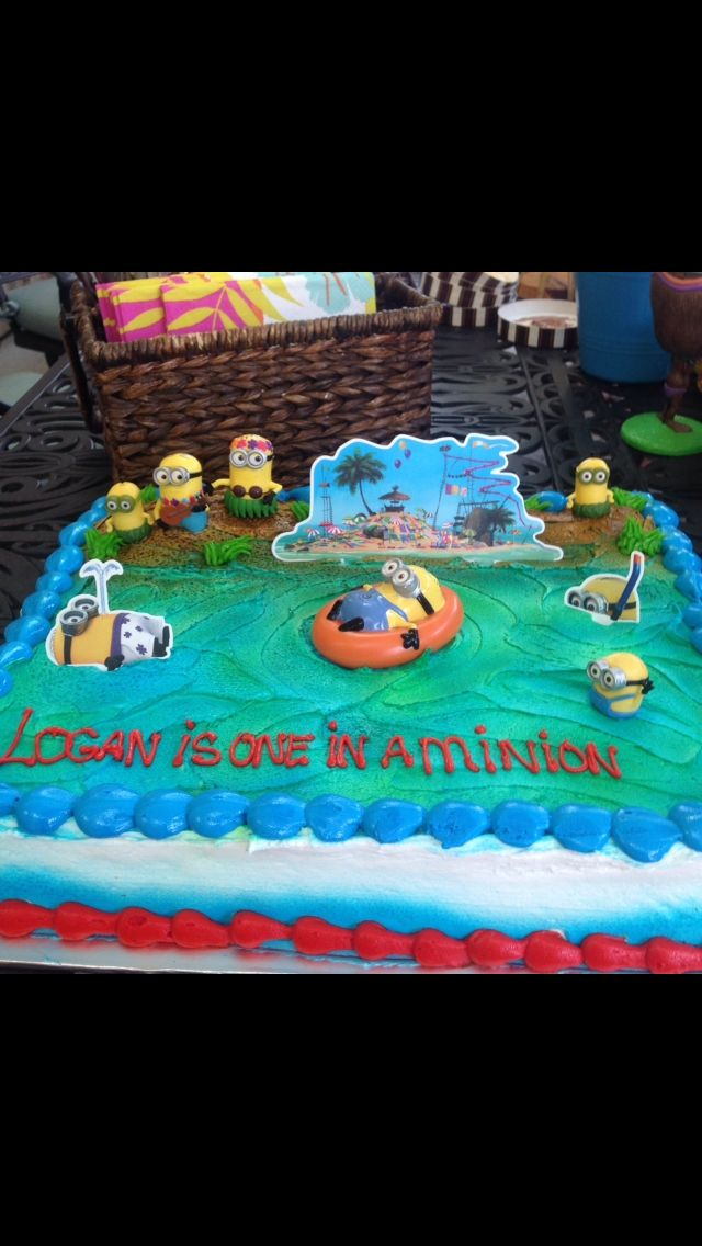 Minions Minion Birthday Despicable Me Smash Cake First