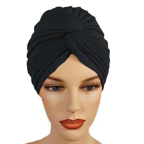 Private Island Party  - Black Turban Head Cover Hat 5940, $5.99 (http://privateislandparty.com/products/black-turban-head-cover-hat-5940/)