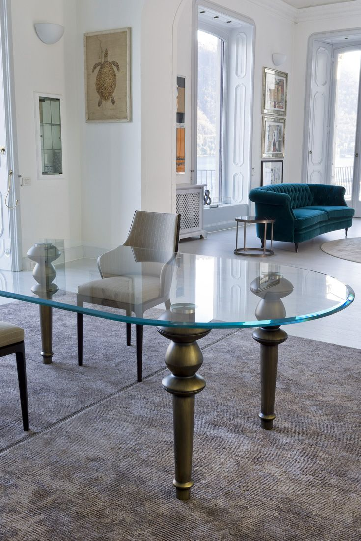 High End Italian Oval Glass Dining Table Juliettes Interiors Luxury Dining Room Oval Table Dining Glass Dining Table