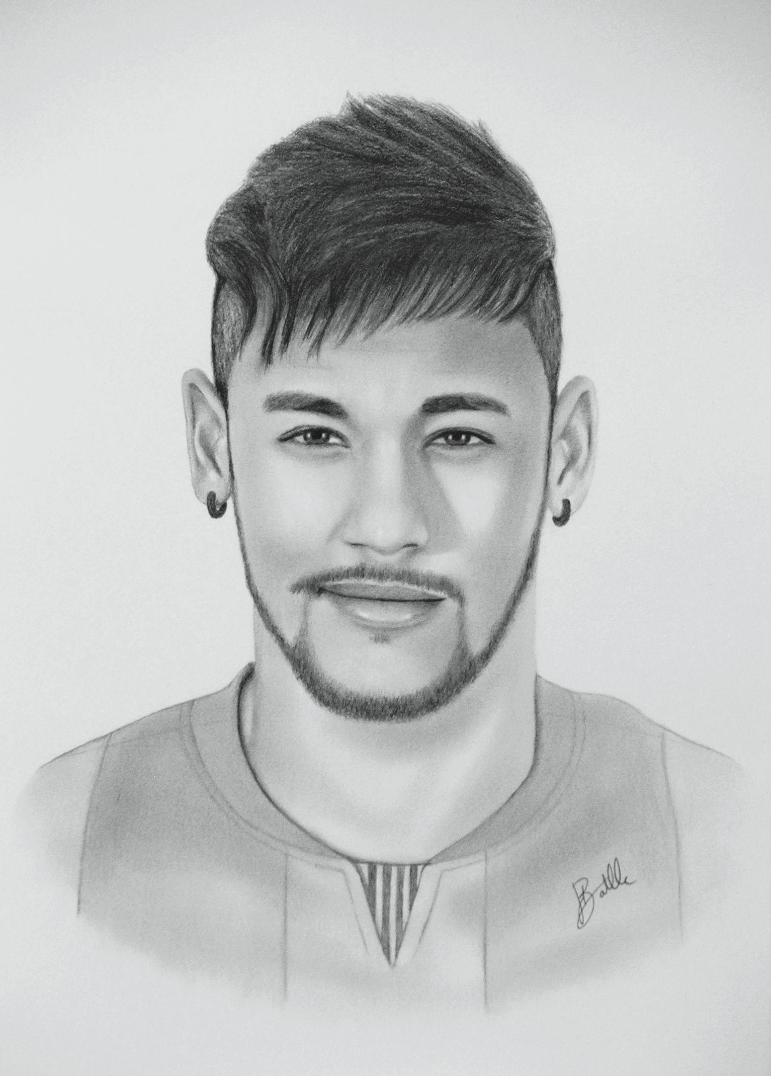 Neymar jr drawing by sergio batlle barcelona fc barça barcelona