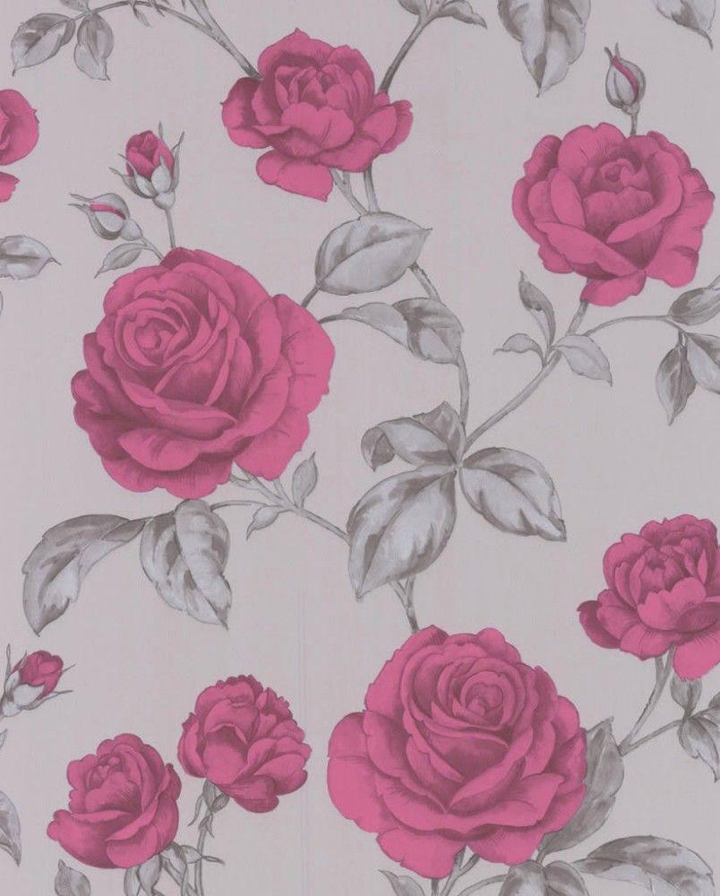 Graham Brown Wallpaper Elixir Countess 50 180 50180 Flower Grey