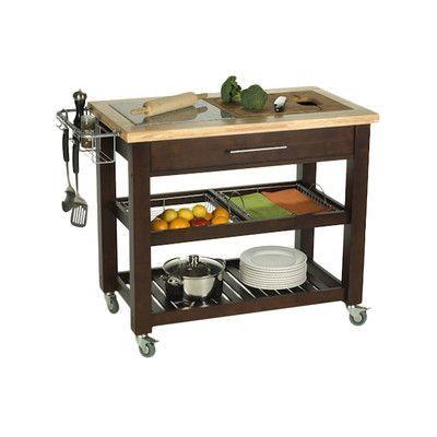 chris chris pro chef kitchen island with granite top reviews rh pinterest ca