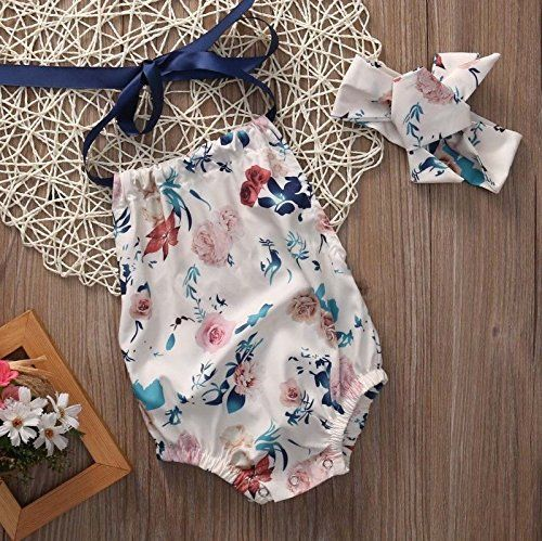Floral Ribbon Tie Romper Trendy Cheap Baby Clothes Online Baby