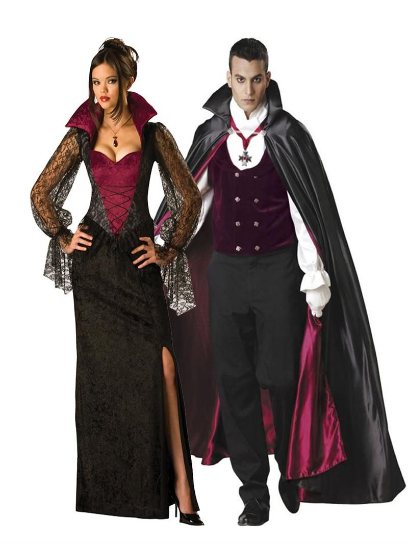 Vampire Couples Adult Halloween Costume,In Character Costumes, PIN10 for  10% off