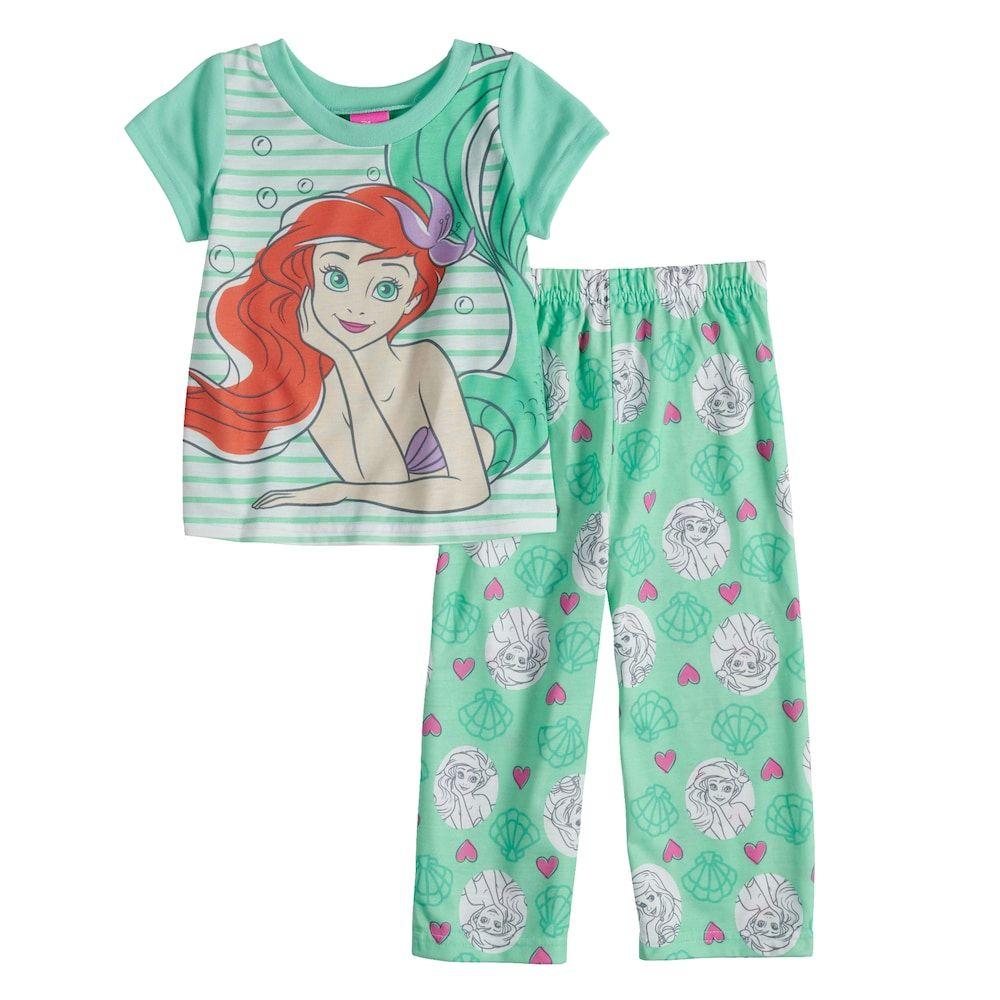 Girls Disney Princess Little Mermaid Ariel Pyjamas Toddler