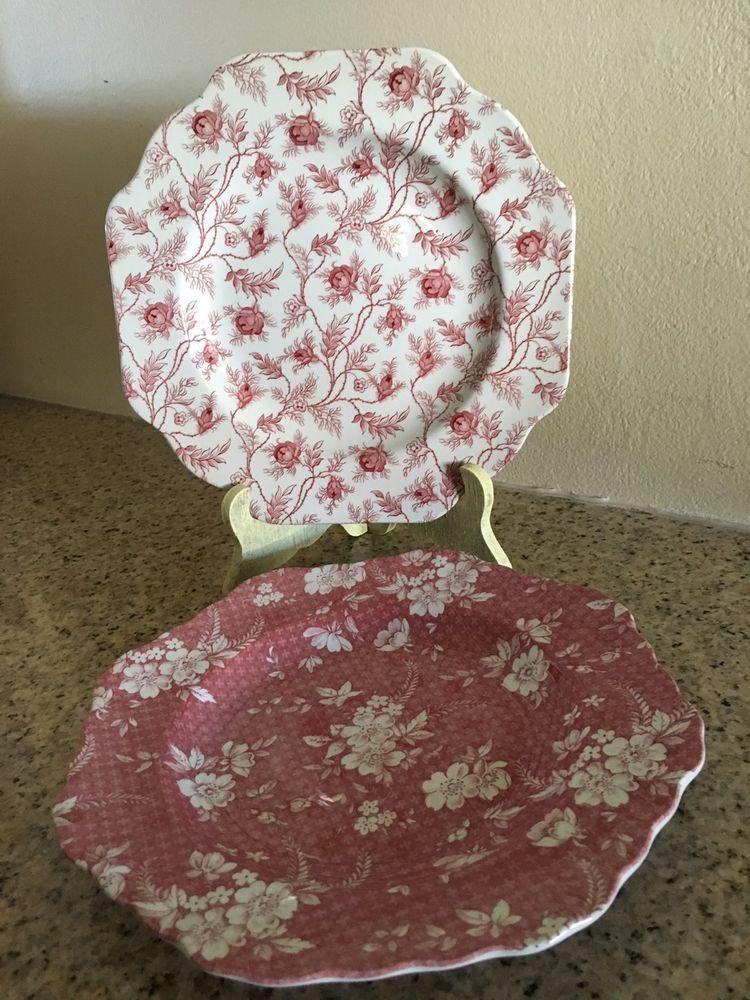 2 Spode Pink/Red    eBay