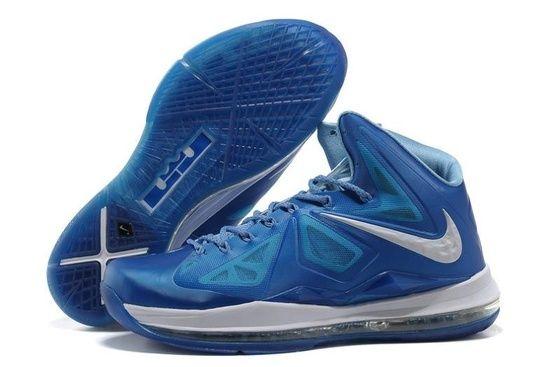 Nike LeBron X Men's Basketball Shoe 598360 400 Photo Blue/Windchill