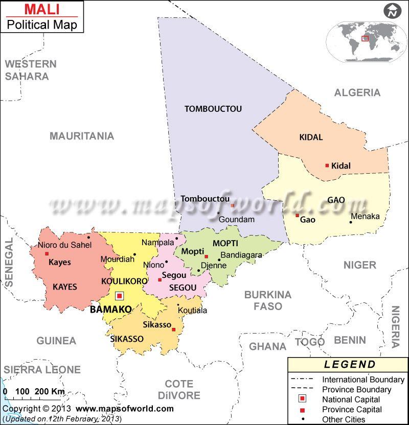 Mapa de Mal Africa