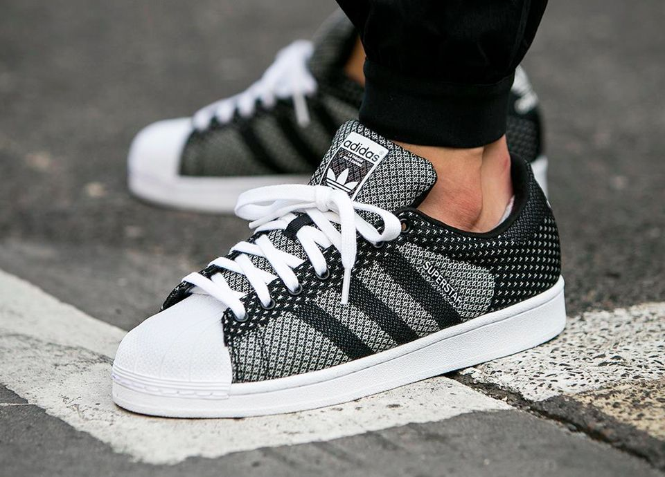 ab73c8d79ab31 Adidas Superstar 'Weave Pack' - Black/White | PEEK MY FAV SNEEKS in ...
