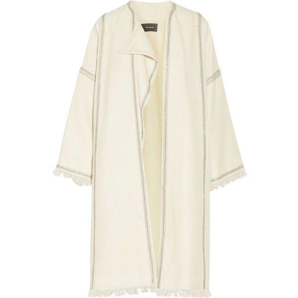 Isabel Marant - Baxter Embellished Embroidered Wool Coat ($590 ...