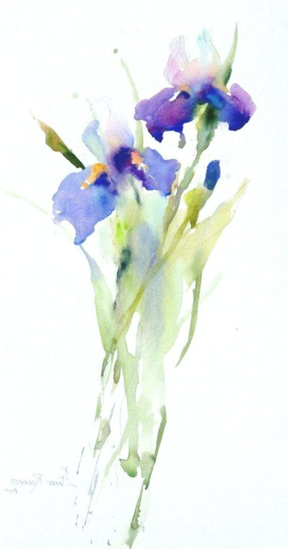 Pin By Alina Sighete On My Pinterest Likes Watercolor Flowers