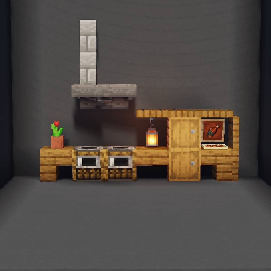 Spiderboy Minecraft Builder On Instagram Here Are Two Kitchen Ideas For Yall Swipe 4 Minecraft Cottage Minecraft Interior Design Easy Minecraft Houses