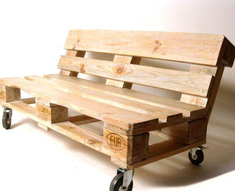 canapé en palette de bois pour salon de jardin extérieur ...