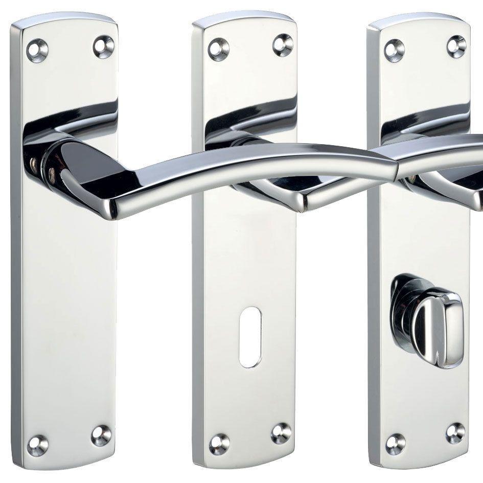 Toledo Door Handles Sets Internal Lever Door Packs Furniture Chrome or Satin