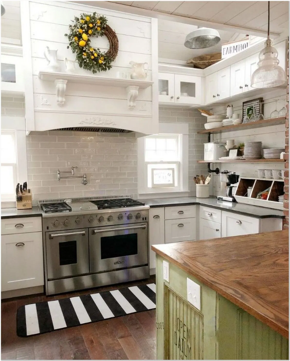 91 The New Orleans Style Farmhouse Kitchen And Black Kitchen Cabinets 20 In 2020 Farmhouse Kitchen Design Elegant Kitchen Design Building A Kitchen