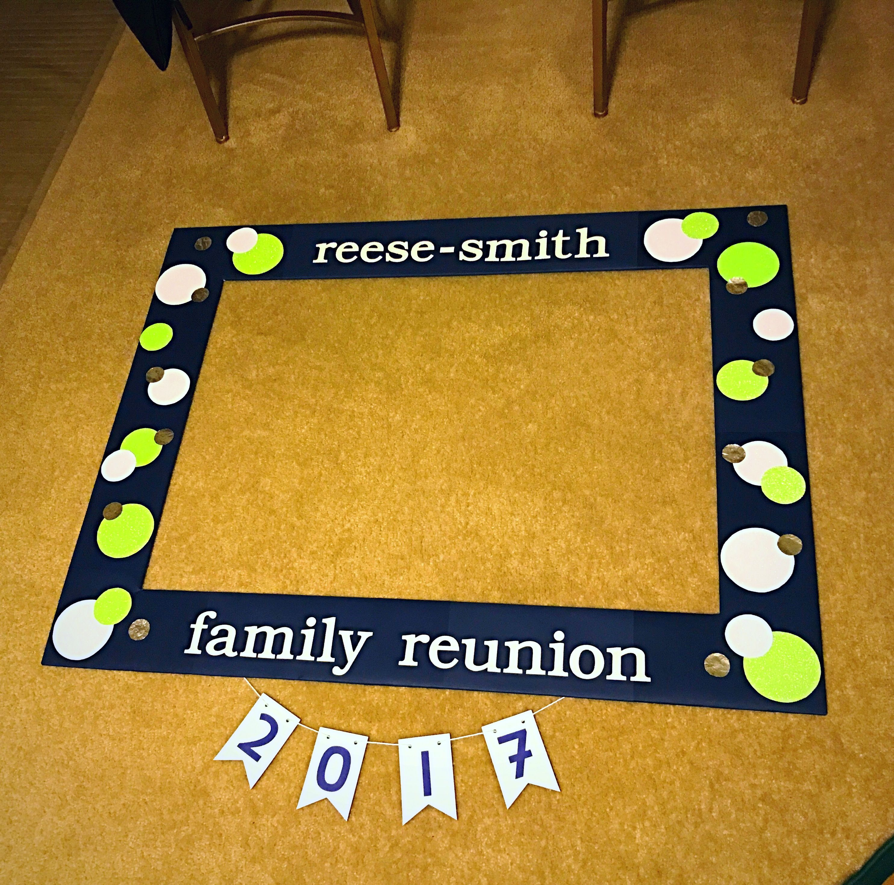 Diy Photo Booth Life Size Picture Frame Family Reunion Favors