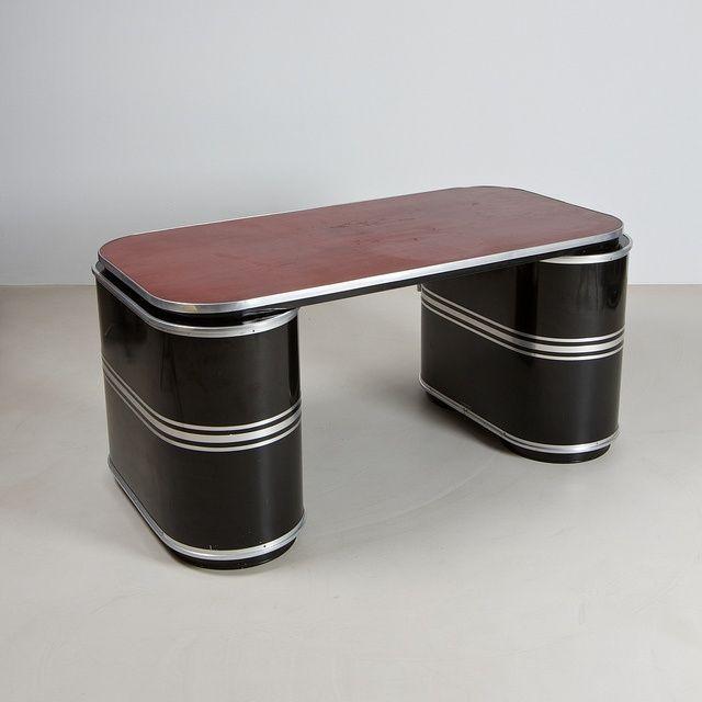executive office desk by mauser germany art deco bauhaus rh pinterest com