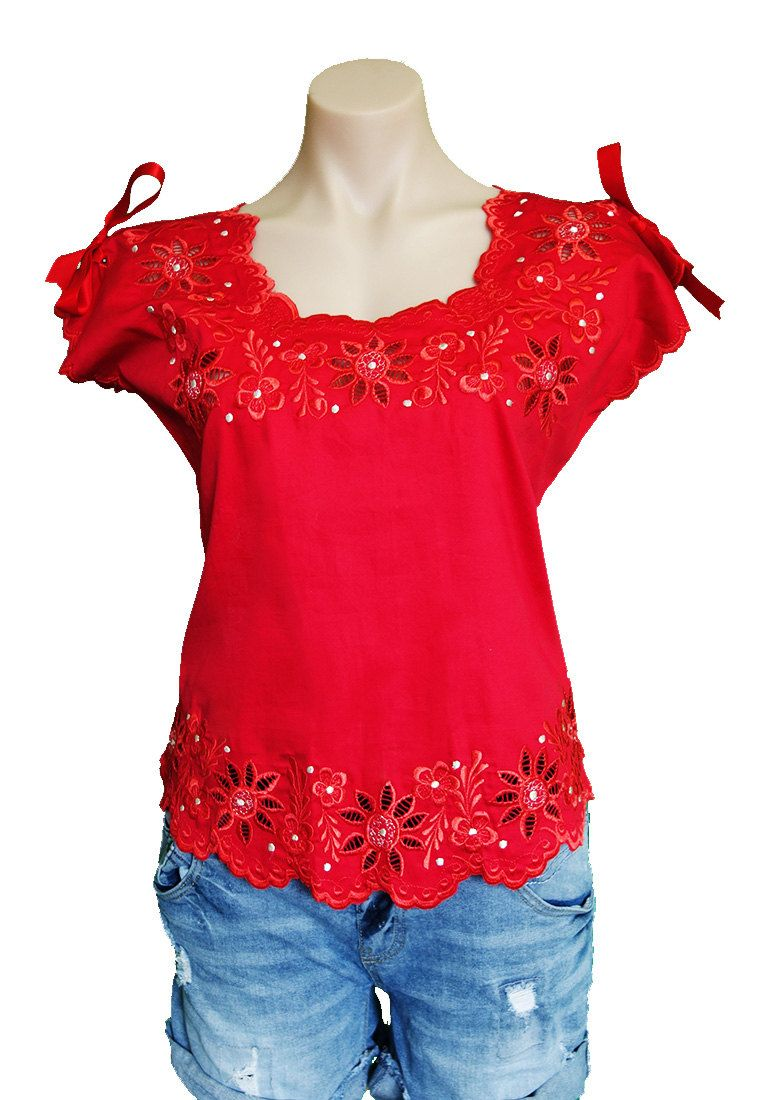 46f31608f7e3 Etsy Mexican Embroidered Blouse