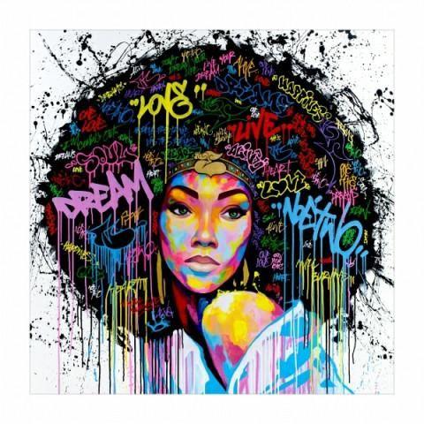 New Black Queen Wall Art Melanin Inc Afro Art Pop Art Street Art Graffiti