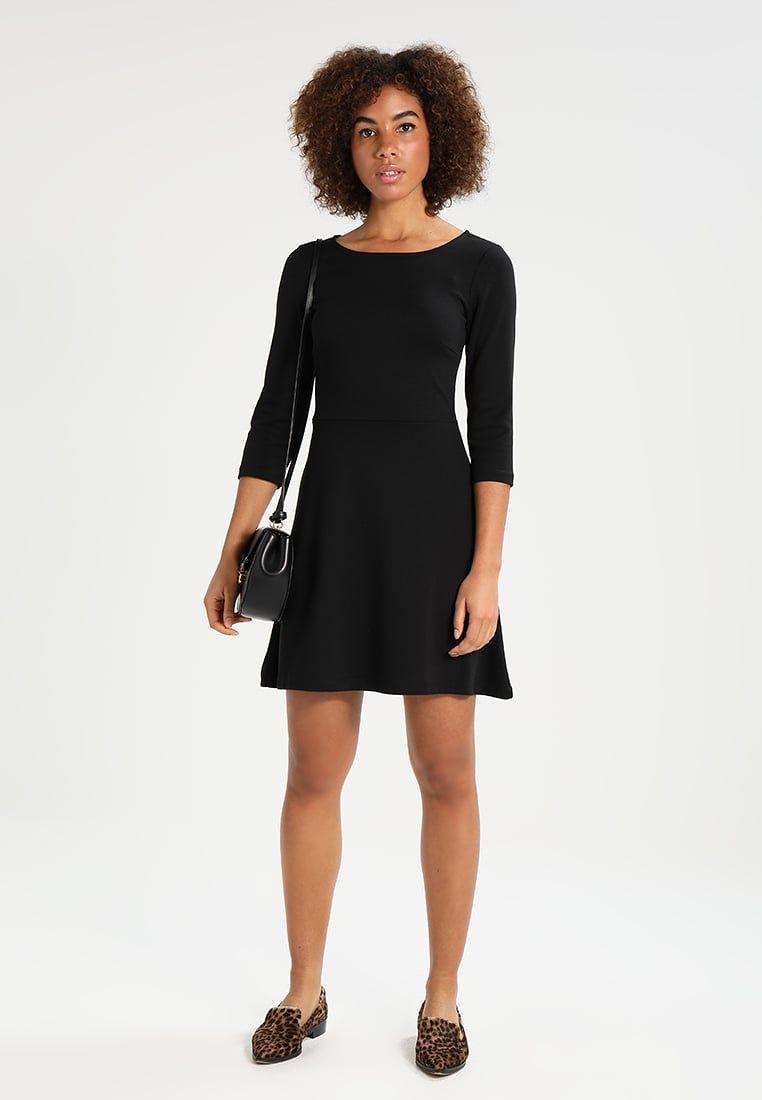 Kleid schwarz schlitz zalando