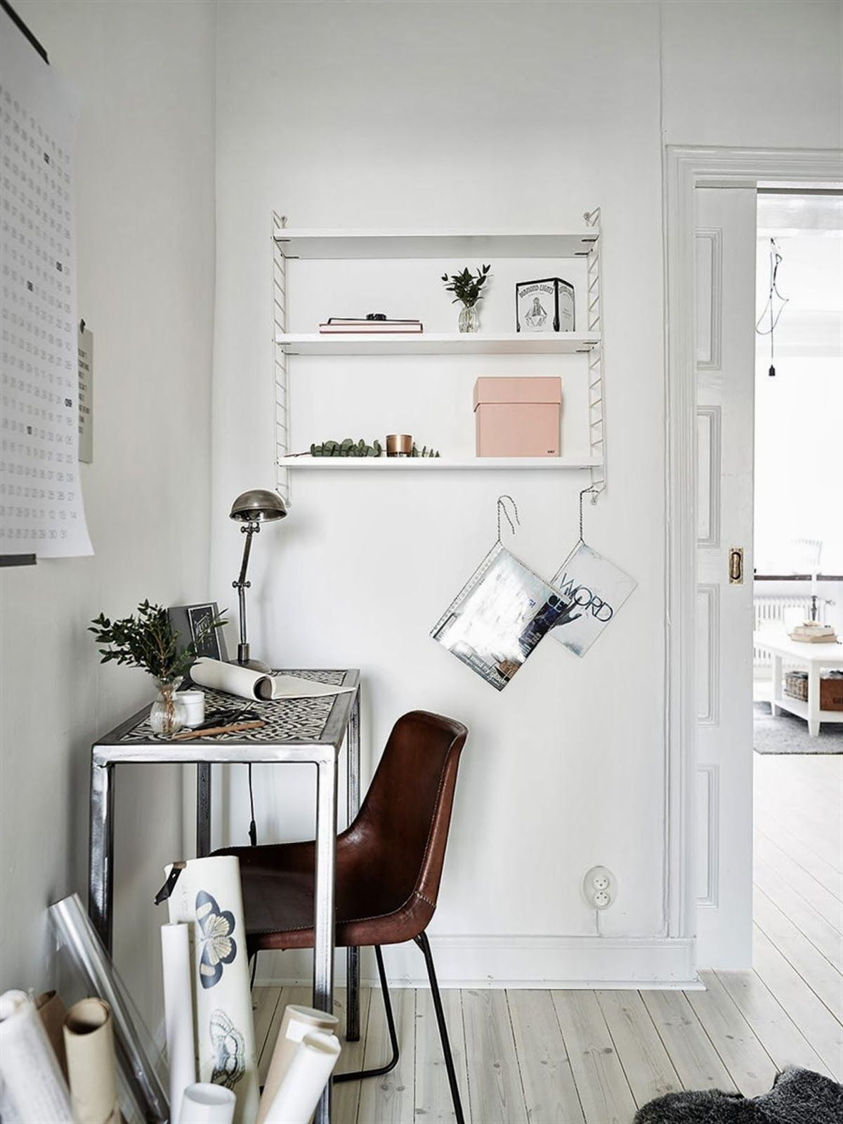 my scandinavian home A pretty Gothenburg apartment with a fab work