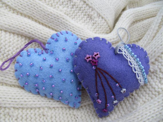 Hey, I found this really awesome Etsy listing at https://www.etsy.com/listing/104683242/felt-heart-ornaments-lavender-filled