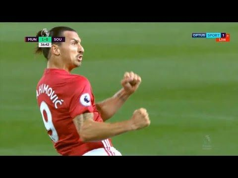 Ibrahimovic Manchester United Vs Southampton 2 0 All Goals And Highligh Barclay Premier League Youtube Manchester United