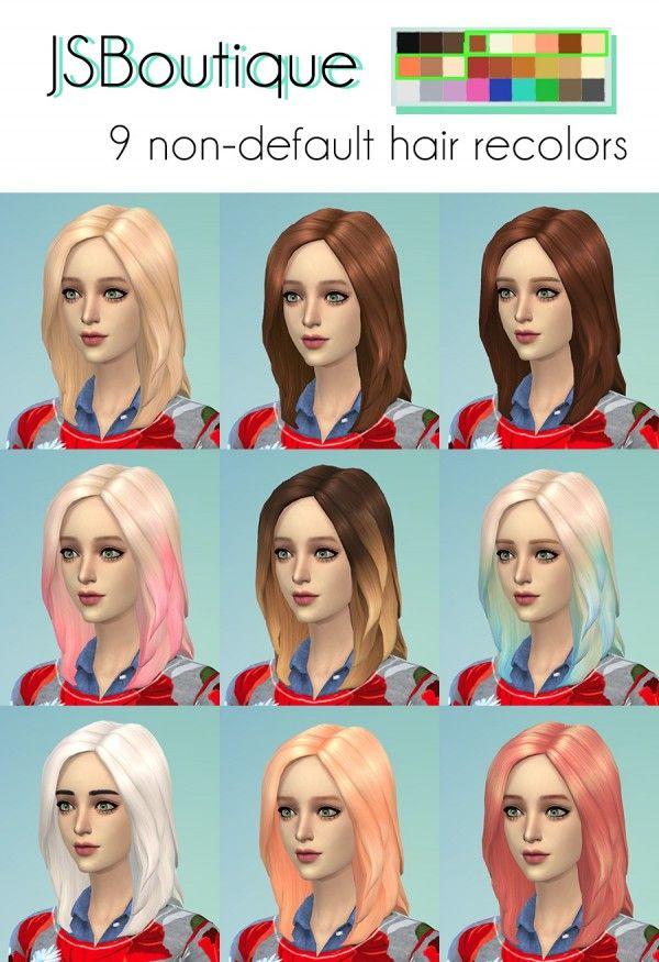 Sims 4 benutzerdefinierte haarfarbe