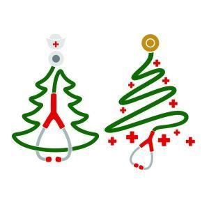 Medical Stethoscope Christmas Tree SVG Cuttable Design ...