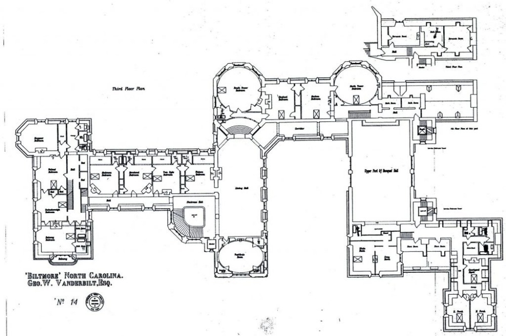 Pin By Tmb On White House Floor Plan Third Floor Biltmore House Biltmore Estate House Floor Plans