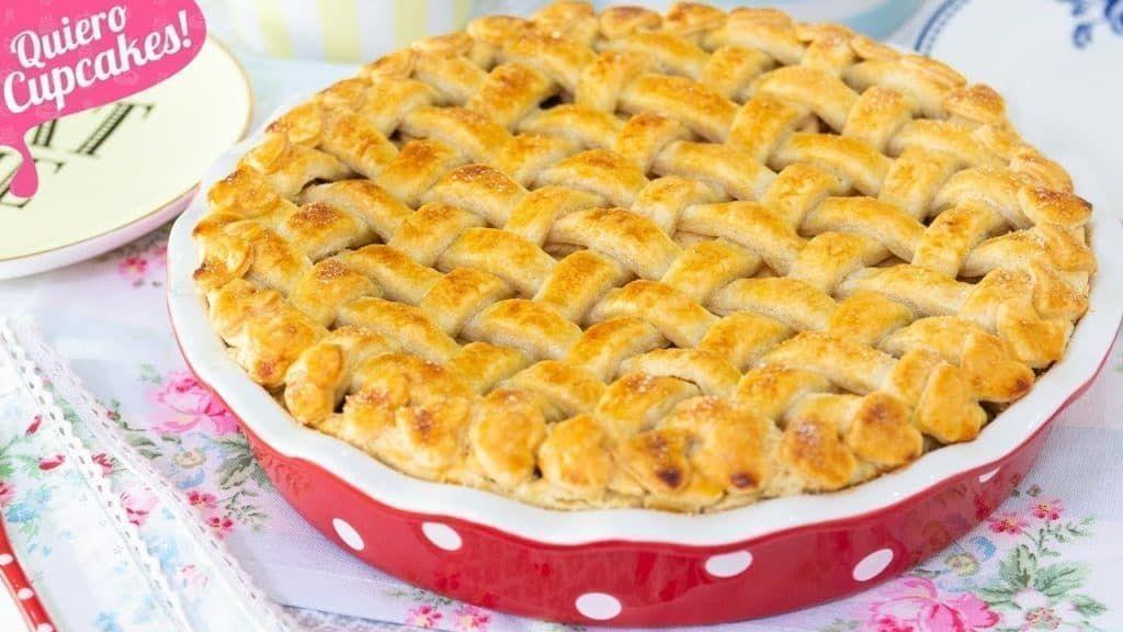 Pie De Manzana Apple Pie Quiero Cupcakes Pie De Manzana Pay De Manzana Receta Recetas Procesador De Alimentos