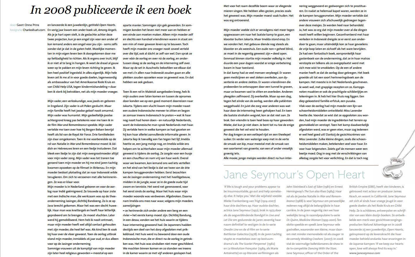 Interview met Jane Seymour uit het Indisch maandblad Moesson. © Alle rechten voor dit artikel gaan naar Moesson. Dank aan hen voor het geven van toestemming om het artikel te publiceren op drquinn.nl. http://www.moesson.nl
