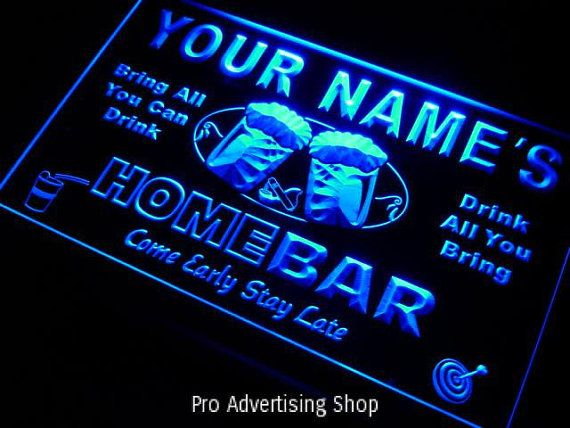 Personalized Neon Signs Mesmerizing Personalized Neon Sign Custom Man Cave Signproadvertisingshop Decorating Inspiration