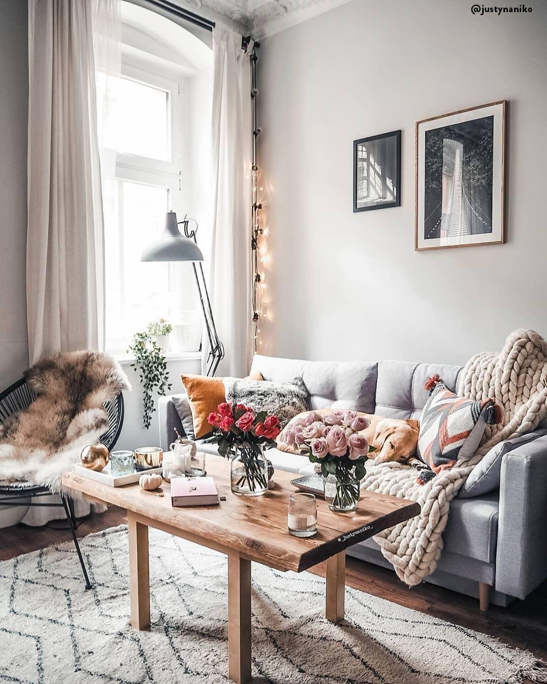 Stile scandi eclettico per il soggiorno 💗 Il centro del ...