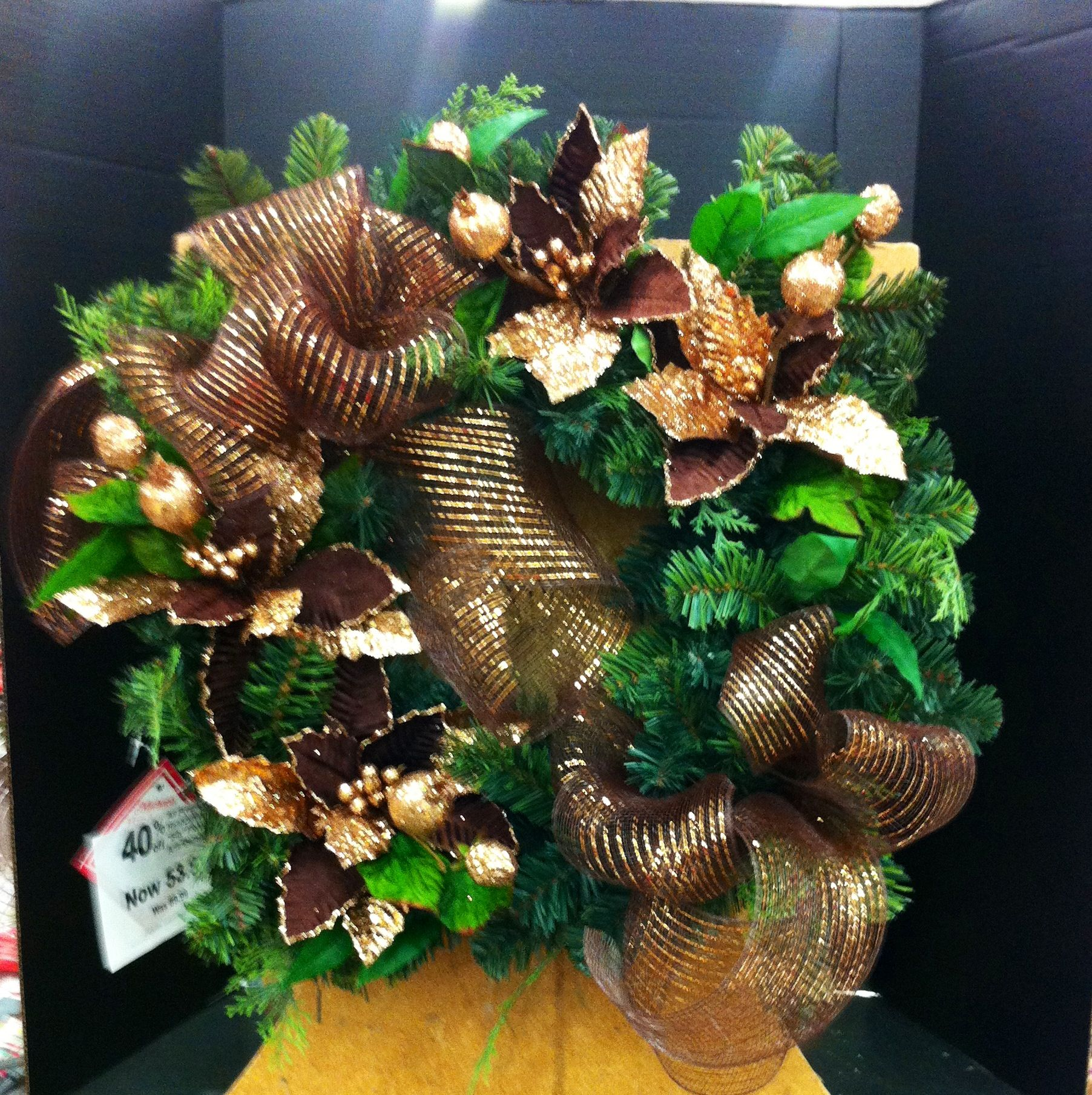 Quick and easy square Christmas wreath Christmas wreaths