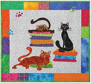 photograph regarding Free Printable Cat Quilt Patterns named Printable Cat Quilt Types QUILT CAT Models Â« Free of charge